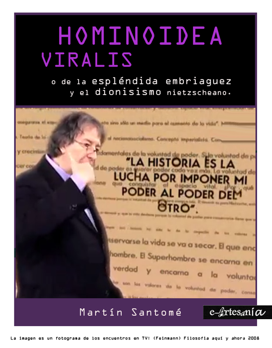 Portada: Hominoidea viralis. Trilogía del humano sideral. Martín Santomé. E-artesania.