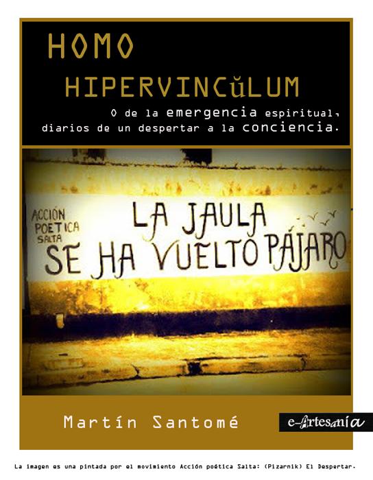 Portada: Homo hipevînculumm. Trilogía del humano sideral. Martín Santomé. E-artesania.